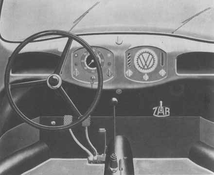 1937 the split-window dashboard, it was changed in 1953 introducing the oval-Bug