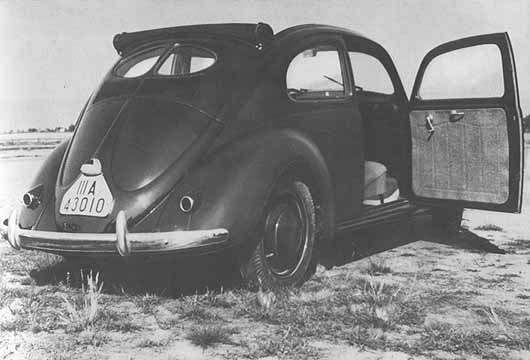 1937 after the developement was finished, the Bug was presented to the public, here the ragtop version