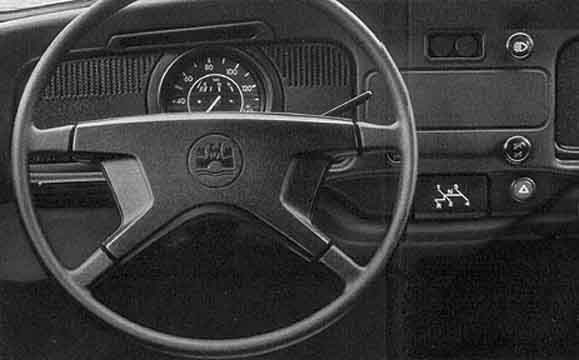 The dashboard, although basically similar to its predecessor of 1957 was changed visibly